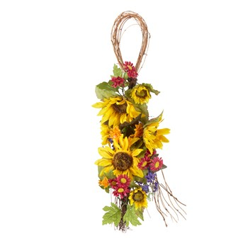 "29.5"" Sunflower Teardrop Wreath"
