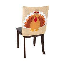 Turkey with Pilgrim Hat Chair Covers, Set of 2