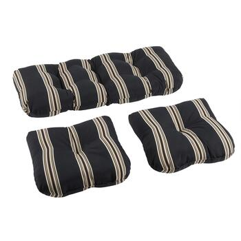 Cabana Stripe Indoor/Outdoor Seat Pad Set, 3-Piece