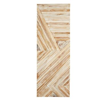 "20""x56"" Teak Wood Panel Wall Decor"