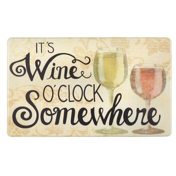 "18""x30"" ""It's Wine O'clock Somewhere"" Cushioned Floor Mat"