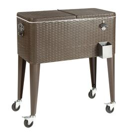 80-Quart Resin Wicker Wheeled Cooler