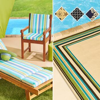 All-Weather Seat Cushions & Rugs