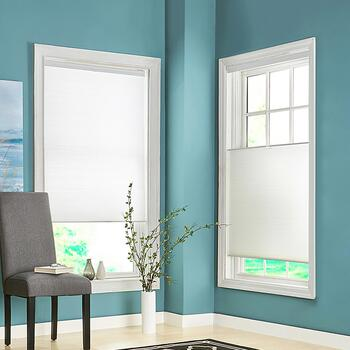 White Top Down/Bottom Up Cordless Fabric Window Shade