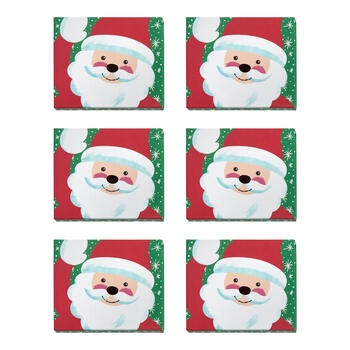 Waving Santa Tab Box Gift Card Holders, Set of 6 view 1