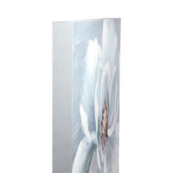 "24""x36"" Large White Flower Canvas Wall Art view 2"