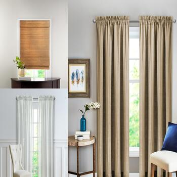 Heather Window Panel Pairs & Cordless Shades