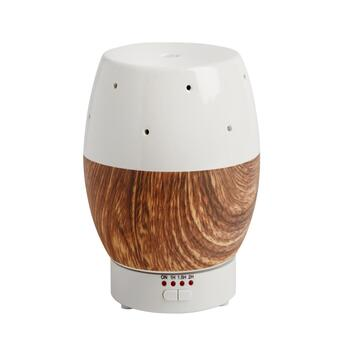 Woodgrain Geometric Essential Oil Diffuser with LEDs