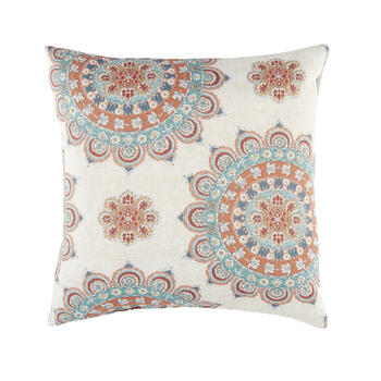 Mandala Flower Square Throw Pillow view 1