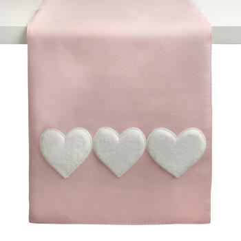 Pink/White Triple Heart Embellished Runner view 1