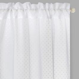 "84"" Dots Sheer Rod Pocket Window Curtains, Set of 2"