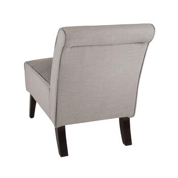 Solid Upholstery Rolled Back Chair with Tufting view 2