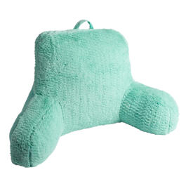 Solid Green Faux Fur Backrest Pillow view 1