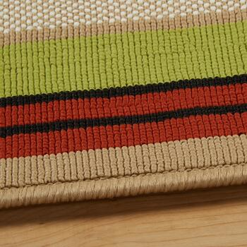 Red/Green/Tan Border All-Weather Area Rug view 2