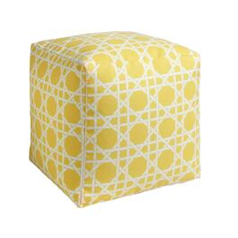 Yellow Cane Indoor/Outdoor Square Ottoman