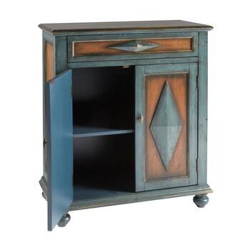 Teal/Brown Diamond Cabinet view 2