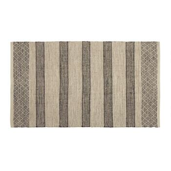 "The Grainhouse™ 27""x45"" Gray Stripe Woven Accent Rug"