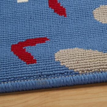 Blue Medallions All-Weather Area Rug view 2