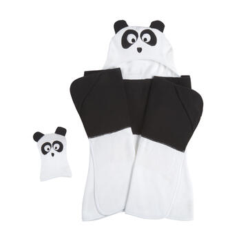 Children's Panda Hooded Towel view 1