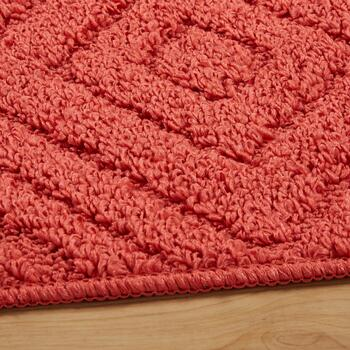 3-Piece Solid Coral Geo Rug Set view 2