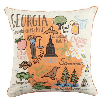 "Grey Whale Outfitters™ ""Georgia on My Mind"" Square Throw Pillow"