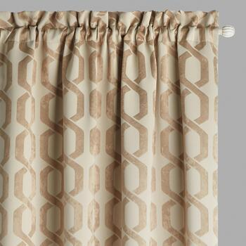 "84"" Woven Links Blackout Window Curtains, Set of 2"