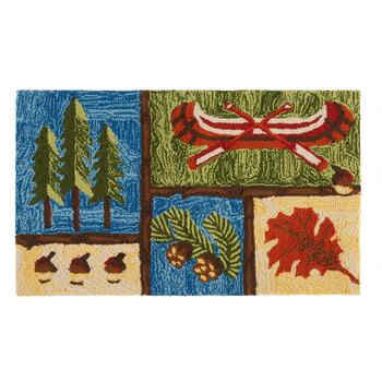 "18""x30"" Nature Scenes Hand-Hooked Area Rug"