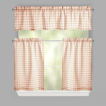 Traditions by Waverly® Ivory Dot Window Tier & Valance Set