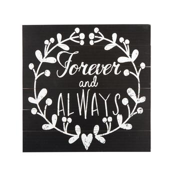 "The Grainhouse™ 20"" ""Forever and Always"" Wood Plank Wall Decor"
