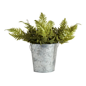 "10.5"" Fern Artificial Potter Plant view 1"