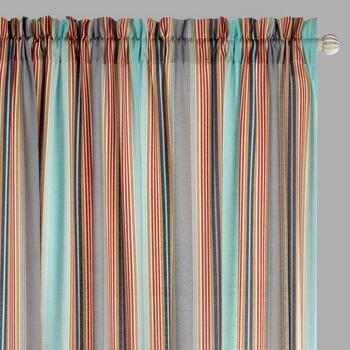 "Traditions by Waverly® 84"" Opal Stripes Rod Pocket Window Curtains, Set of 2"