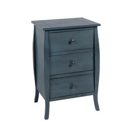 Dark Blue Rounded Edge 3-Drawer Chest
