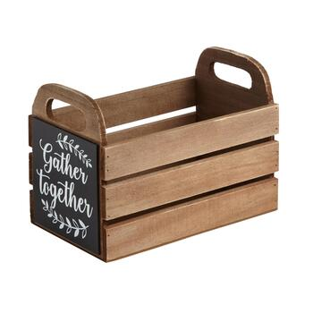 """Gather Together"" Wooden Caddy"