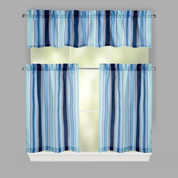 Traditions By Waverly 174 Lover S Lane Stripe Window Tier