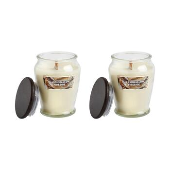15-oz. Woodwick Marshmallow Fireside Candle Jars, Set of 2