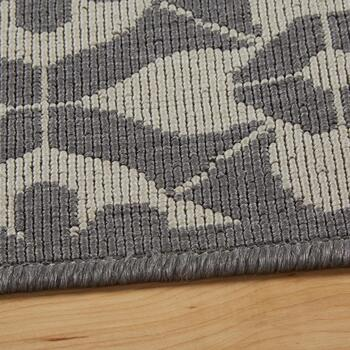 Gray Medallion Pattern All-Weather Area Rug view 2