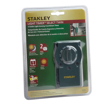Stanley® 2-Outlet Light-Sensing Timer view 1