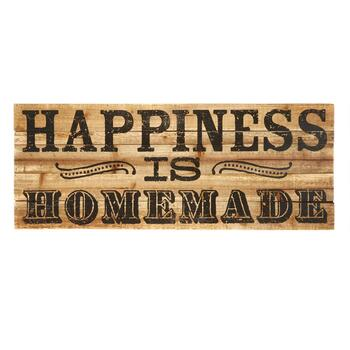 "12""x30"" ""Happiness is Homemade"" Wood Wall Plaque"