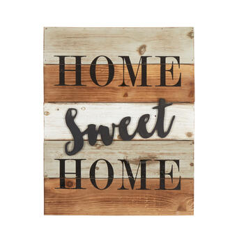 "16""x20"" ""Home Sweet Home"" Cutout Wood Wall Decor view 1"