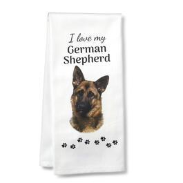 I Love My German Shepherd Kitchen Towel view 1