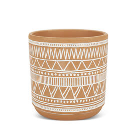 "5"" Orange/White Pattern Planter view 1"