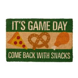 """Come Back with Snacks"" Coir Door Mat"
