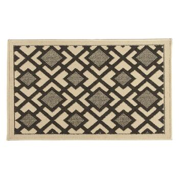 "20""x33"" Charcoal Diamond Accent Rug"