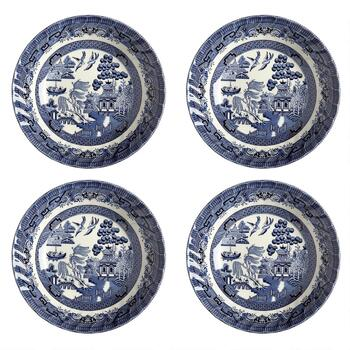Blue Willow Imperial Decorative Soup Bowls, Set of 4