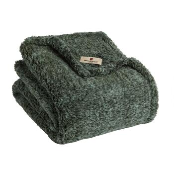 Warm Sherpa-Style Throw Blanket