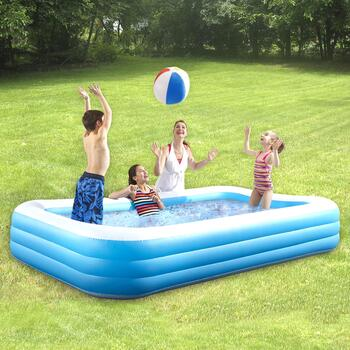 Deluxe Rectangular Inflatable Family Pool