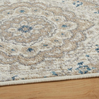 5'x7' Tayse Ivory Floral Ogee Area Rug view 2