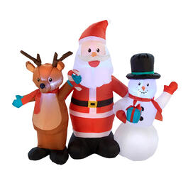 "55""Airblown® Inflatable Lighted Santa and Friends view 2"