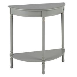 "28.5"" Hourglass Legs Half-Round Console Table with Shelf"