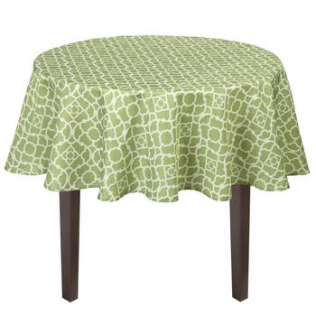 Waverly® Green Lattice Printed Tablecloth view 2